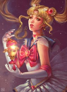 If Sailor Moon had an almost 3D version then this one would take the cake. A fantastic art by Majesteux that has an overall feeling of content and perfection. - The magic that Sailor Moon brings   Art and Design