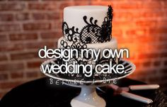 Already designing one for someone else, i think i can do my own :) after all, I am a certified baker! :)