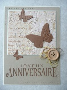 P1200100 Butterfly Cards, Kirigami, Stamping Up, Diy Cards, Quilling, Birthday Cards, Frame, Crafts, Handmade