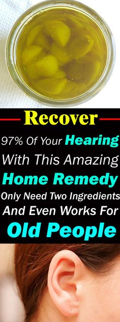 These two POWERFUL ingredients make a miraculous recipe that can help you in recovering your hearing. It really works!