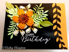 Stampin' Up! Botanical Bloom, builder, Pinned and made by me Vicky Clayton