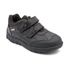 Aqua Rain - Black Leather - these weather proof Start-rite boys school shoes are made from water resistant leather, are light-weight and durable, and have a scuff resistant toe.