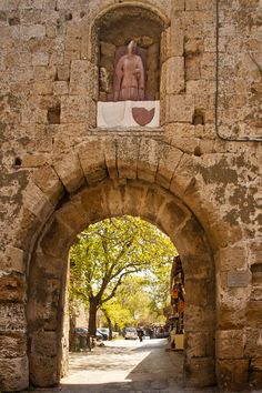 St Anthony's Gate, Old Town Rhodes, Greece