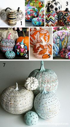 asa by mealisab, via Flickr  More pumpkin paintings inspirations.