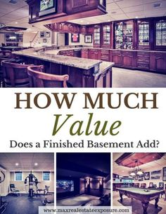 Does a finished basement add value to my home and if so how much value? See different types of basements and their corresponding value.