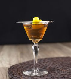 The French Province {a rum calvados cocktail} Bar Drinks, Cocktail Drinks, Cocktail Recipes, Alcoholic Drinks, Cocktails, Drink Recipes, Bartender, Martini, Rum