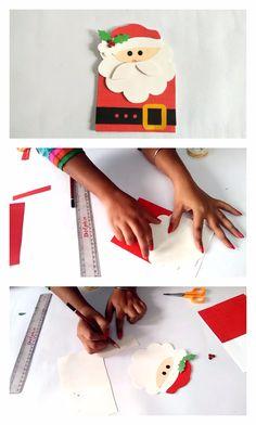 DIY Santa Claus Christmas Card – Neesly