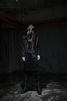 Hooded apocalyptic menswear