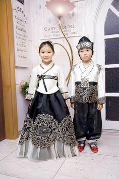 Gorgeous modern Korean hanbok.