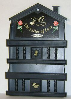 Vintage Black Plastic Colonial Love Letter by theevintageshop, $9.95