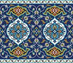 Brendan Moroccan Authentic Oriental Motif with Vintage Byzantine Style Tile Effects Artwork Graphic Print & Text Semi-Sheer Rod Pocket Curtain Panels Islamic Art Pattern, Arabic Pattern, Islamic Motifs, Arabic Design, Arabic Art, Tile Patterns, Pattern Art, Design Patterns, Persian Pattern