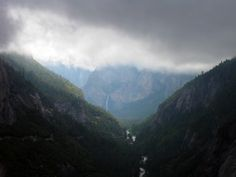 Yosemite Valley with low cloud cover USA  #landscape #yosemite #valley #cloud #cover