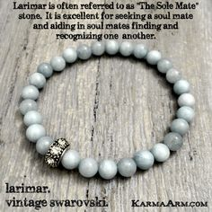 Larimar is an excellent stone for seeking a #soul mate, and it facilitates the healing of past life relationships or heart trauma. #love #yogabracelet #spiritualjewelry #spiritual #jewelry  #bracelet #yoga #fashion #yogabracelets #style #armcandy #bead #beaded #mala #womens #mens #healing #goodluck #lucky #luck #Hope #buddha #manifest #lifestyle #luxury #energy #friendship #crystals #crystals #soulmate #blue