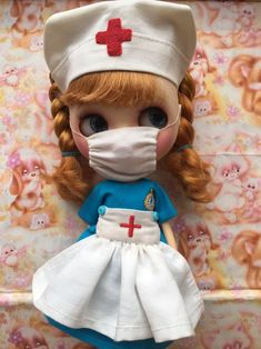 Excited to share this item from my shop: Blythe 'Nurse Nancy Dress Set' Vintage Style Nurse Set For Blythealley