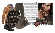"""""""dundee musgo"""" by tardan-moda ❤ liked on Polyvore featuring Balmain, Dsquared2, Tod's, Citizen, Yves Saint Laurent, DICK MOBY, Giuseppe Zanotti, The Art of Shaving, Impossible and L.L.Bean"""