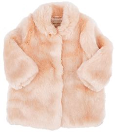 Hucklebones Faux-Fur Coat-PINK | #Chic Only #Glamour Always