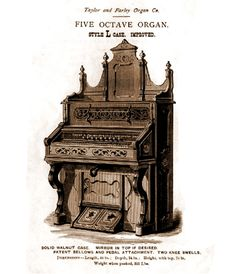 Taylor & Farley - 1M Five Octave Reed Organ. Style L Case