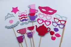 Princess Tea Party Photo Booth Props  Perfect for a Little