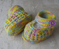 Colorful Knitted Baby Booties, Yellow funny baaby shoes, 3-6 months, Baby Gift
