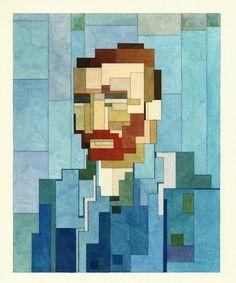 Batman en Van Gogh verwateren in deze waterverf-pixel-art   The Creators Project
