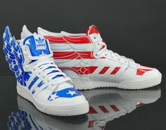 promo code 42a52 957b9 This version of Jeremy Scott s adidas JS Wings 2.0 definitely has that  patriotic feel