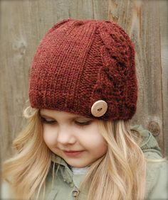 Leighton Cloche' Knitting pattern by The Velvet Acorn, a cute cable hat pattern for children. Find this pattern at LoveKnitting.Com!