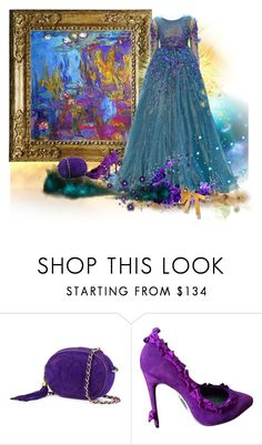 """""""Monet Beauty"""" by artistkarstenmouras ❤ liked on Polyvore featuring Chanel, Georges Hobeika and Alexis Mabille"""