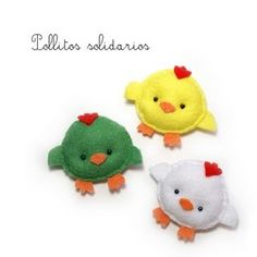 #Felt, #Fieltro, Felt little chickies, Pollitos de fieltro