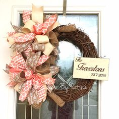 Personalized Wreath  Everyday Wreath  Wedding by DecoDecorByPatina