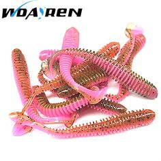 10pcs/lot 5.5cm 0.8g Artificial Soft Bait Worm Swimbaits Fishing Lure 8 Color silicone T Tail Lure Fly Fishing Bait FA-398 FREE Shipping  #ocean