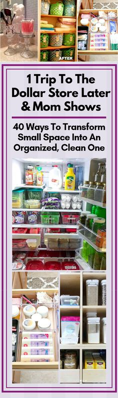 These genius dollar store organization hacks will make organizing so much easier. These dollar store ideas are genius! The post 1 Trip To The Dollar Store Later & Mom Shows 40 Ways To Transform Small Space Into An Organized, Clean One appeared first Organizing Hacks, Organisation Hacks, Organizing Your Home, Storage Organization, Cleaning Hacks, Storage Ideas, Household Organization, Organising, Storage Solutions