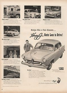 Large Antique 1951 Auto Henry J Car Magazine Print Ad - Approx 11 x 14