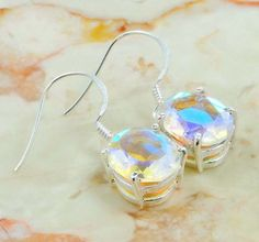 Sparkling Mystic Quartz Earrings : Low Price Mystic Quartz Earrings Supplier Online