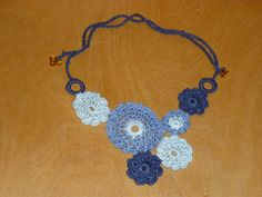 crochet jewelry patterns free | Flower Necklace mofifs: free pattern | crochet