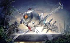 La nave cometa del Capitan Futuro Florian Renner
