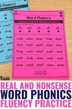 Reading Fluency, Kindergarten Reading, Teaching Reading, Guided Reading, Phonics Rules, Teaching Phonics, Teaching Strategies, Teaching Tips, Fluency Activities