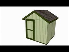 8x8 Shed Plans | Free Outdoor Plans - DIY Shed, Wooden Playhouse, Bbq, Woodworking Projects