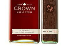 "Beautiful branding and packaging design for Crown Maple Syrup. ""Studio MPLS created a distinctive brand identity and visual brand language for the world's first brand… Crown Maple Syrup, Real Maple Syrup, Restaurant Identity, Cool Packaging, Packaging Ideas, Graphic Projects, Logo Design, Graphic Design, Print Design"