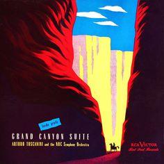 "CvA042. Arturo Toscanini - ""Grand Canyon Suite"" by Alex Steinweiss / © RCA Victor 1946 / RCA - 257 / #Albumcover"