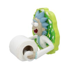 Nemesis Now Rick and Morty - Rick Toilet Holder Rick And Morty Merch, Rick And Morty Poster, Rick And Morty Stickers, Rick And Morty Characters, Ricky And Morty, Nerd Room, Hangout Room, Light Blue Green, Toilet Roll Holder