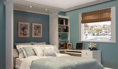 what a good idea (study room decor guest bed) Murphy Bed Ikea, Murphy Bed Plans, Boudoir, Hideaway Bed, One Room Apartment, Modern Murphy Beds, Study Room Decor, Old Beds, Guest Room Office