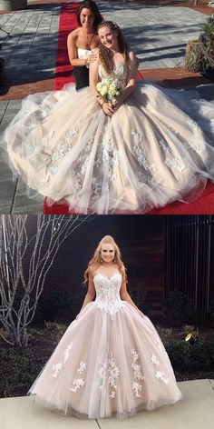 Ivory Prom Dresses Long, Princess Prom Dresses Lace Prom Dresses Modest, V-neck Prom Dresses Tulle Prom Dresses Long Modest, Ivory Prom Dresses, Princess Prom Dresses, Simple Prom Dress, Prom Dresses For Teens, Elegant Prom Dresses, Unique Prom Dresses, Perfect Prom Dress, Beautiful Prom Dresses