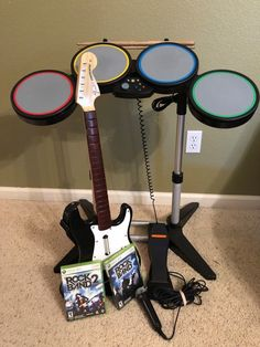 Lego rock band 5 rocktopus in too deep by sum 41 hard xbox 360 xbox 360 rock band bundle drums fender stratocaster guitar mic game 1 2 tested publicscrutiny Gallery