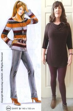 Basic T turned cowl neck tunic     Happy New Year everyone!   I have stopped searching for the perfect T shirt pattern. For me it's ...