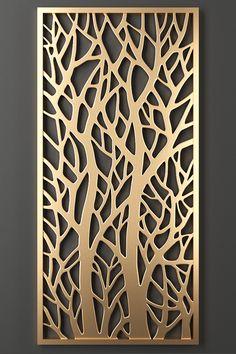 Laser Cut Screens, Laser Cut Panels, Decorative Metal Screen, Decorative Panels, Panel Wall Art, Metal Wall Art, Jalli Design, Feature Wall Design, Cnc Cutting Design
