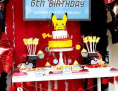 Bilderesultat for pokemon birthday party ideas