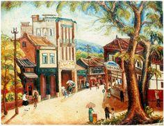 陳澄波 〈嘉義街景〉 1934 畫布油彩 51x116.5圖版出處/財團法人陳澄波文化基金會提供