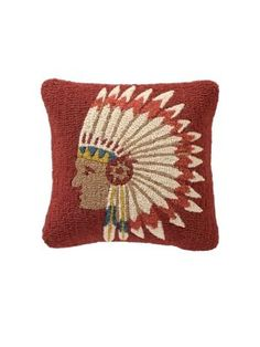 CHIEF'S CONCHO HOOKED PILLOW PENDLETON