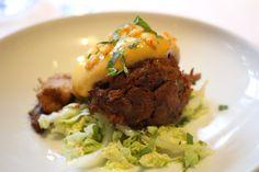 #chefsfriends Gekonfijte eendenbout met Oosterse sabayon en salade, Central Park by Ron Blaauw in Voorburg.