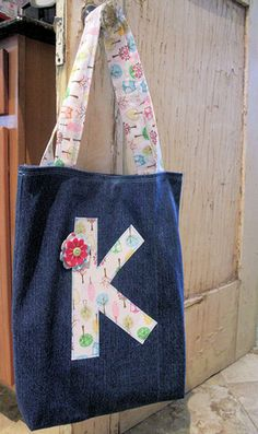 DIY Style book bag....good gift idea too